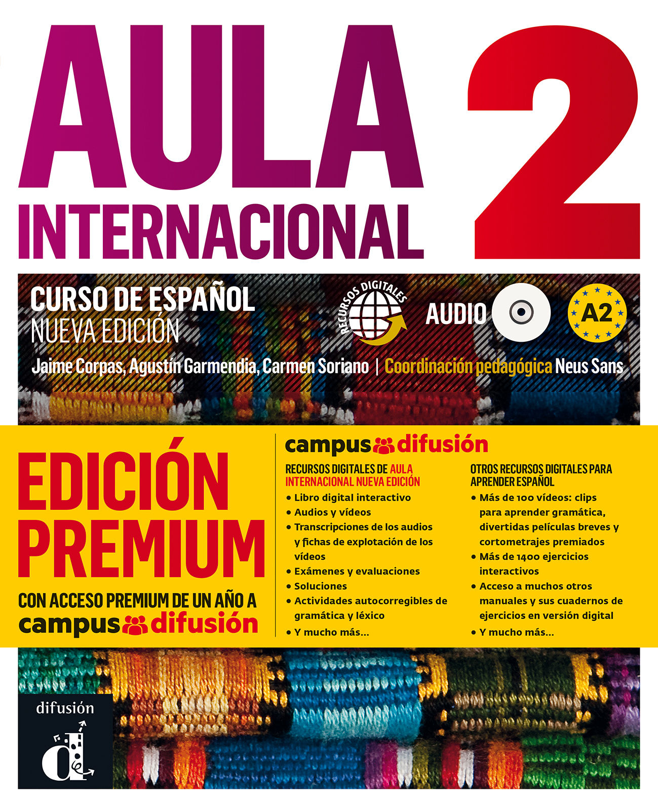 AULA INTERNACIONAL NUEVA EDICIÓN 2 PREMIUM LIBRO DEL ALUMNO + CD