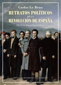 RETRATOS POLITICOS DE LA REVOLUCION DE ESPAÑA