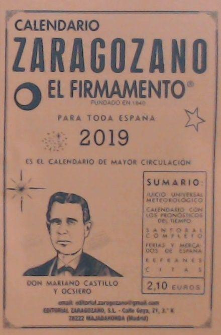 CALENDARIO ZARAGOZANO 2019