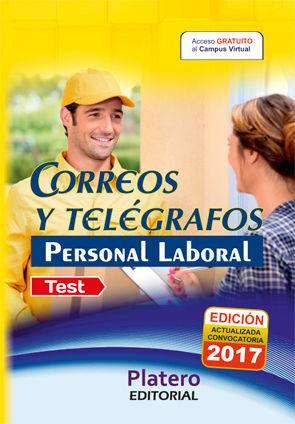 PERSONAL LABORAL DE  CORREOS Y TELÉGRAFOS. TEST DEL TEMARIO