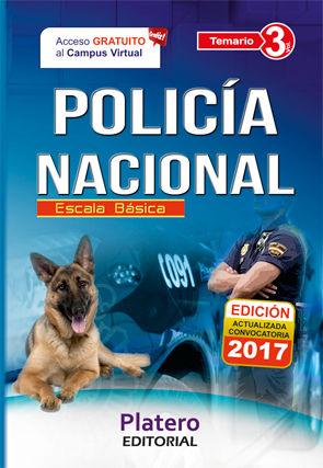 POLICÍA NACIONAL ESCALA BÁSICA TEMARIO VOLUMEN 3